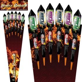 Feuerwerk Raketen Horse Power 12-teilig