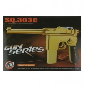 Pistole Airsoft, gold 2 Magazine , ABS Kunststoff inkl. Munition