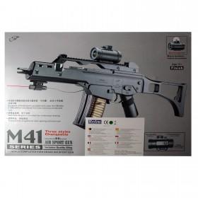 Softair M41 Gewehr, 6 mm,schwarz aus ABS Kunststoff