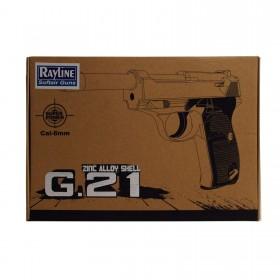 Softair Pistole Metall, Inklusive Munition, schwarz Maßstab 1:1