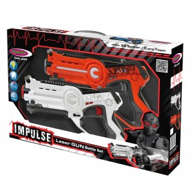 Impulse Laser Battle Set orange-weiß, mit Infrarot