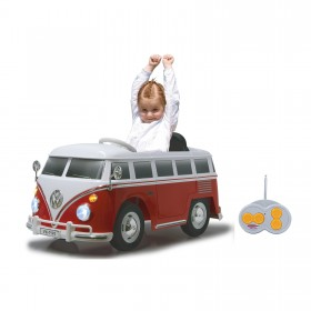 Kinderauto/ Kiddycar VW T1 Bus mit Sicherheits Fernbedienung 16,7Kg Ultra Grip