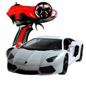 RC Lamborghini, weiß mit Pistolen Fernsteuerung Maßstab 1:10