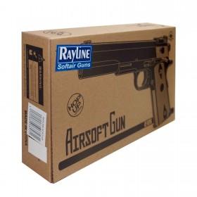 Softair Pistole - Aus Metall 24,5cm Kaliber 6mm