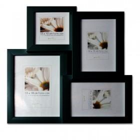 Bilderrahmen Collage - Für 4 Bilder aus Holz mit MDF Rückwand