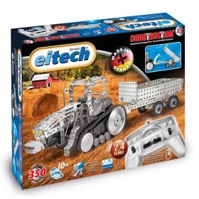 EITECH Metallbaukasten 2.4 GHz RC Traktor mit Anhänger und Fernbedienung