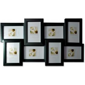 Bilderrahmen Collage für 8 Bilder aus Holz 10x15cm pro Rahmen