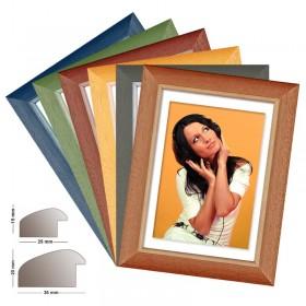 Bilderrahmen aus Holz Maße 13x18 bis 70x100, 6 verschiedene Farben MADE IN GERMANY