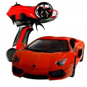 RC Lamborghini, orange LED mit Pistolen Fernsteuerung