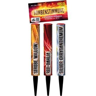 3er Pack Bombenrohre Feuerwerk