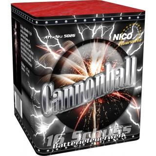 Batterie Cannonball 16 Schuss