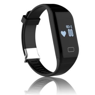 Smart Fitnessarmband, schwarz, Fitness Tracker mit Herzfrequenzmesser