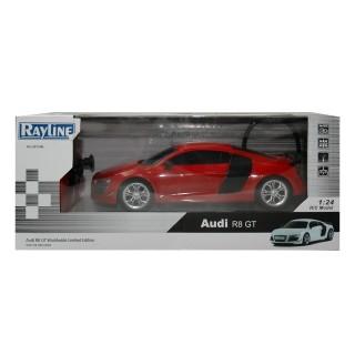 RC Audi R8 GT, rot, 1:24, mit Fernbedienung 8,9 km/h schnell