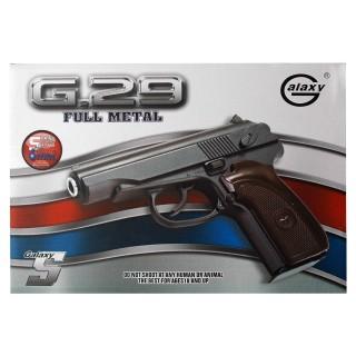 G29 Softair Pistole Metall, Inklusive Munition, metall-braun