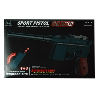 Air Soft Pistole, Inklusive Munition, schwarz-braun
