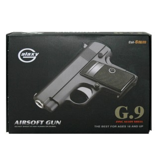 G9 Airsoft, Inklusive Munition, schwarz 6er magazin