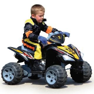 Quad Kinderauto 12V 2 Gang mit Licht, Hupe und Sound Effekten Ultra Grip