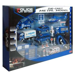 19-teiliges Spiele-Set Polizei oder Feuerwehr, groß