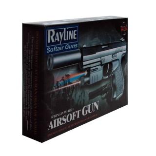 Softair Pistole mit Federdruck 50-60 Meter Reichweite, Kaliber 6mm