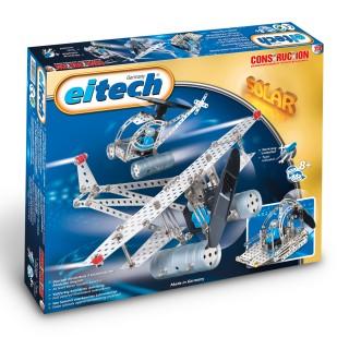 EITECH Metallbaukasten Flugzeug/ Helikopter mit Solarantrieb