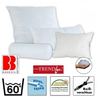 Badenia Bettcomfort Kissen - 15X40 Nackenrolle Baumwollbezug